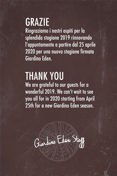 Stagione 2020 Giardino Eden Ischia