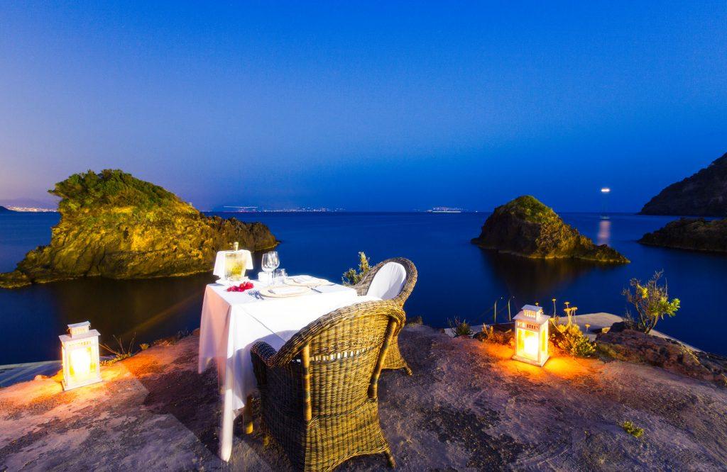 cena riva mare ischia
